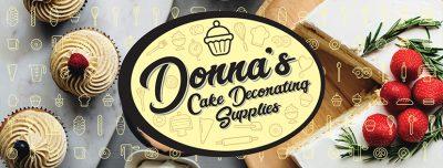 Donnas Cake Decorating Supplies Banner