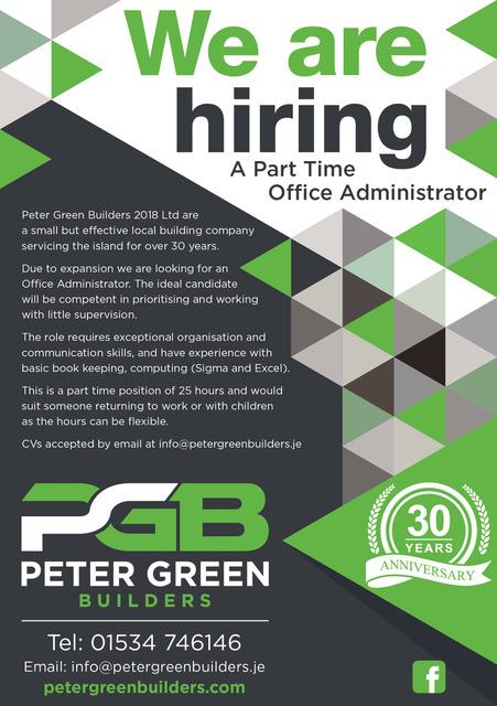 Webby Design Peter Green Advert