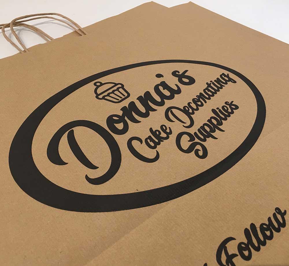 Donnas Cake Decorating Supplies Packaging Design Bag Design