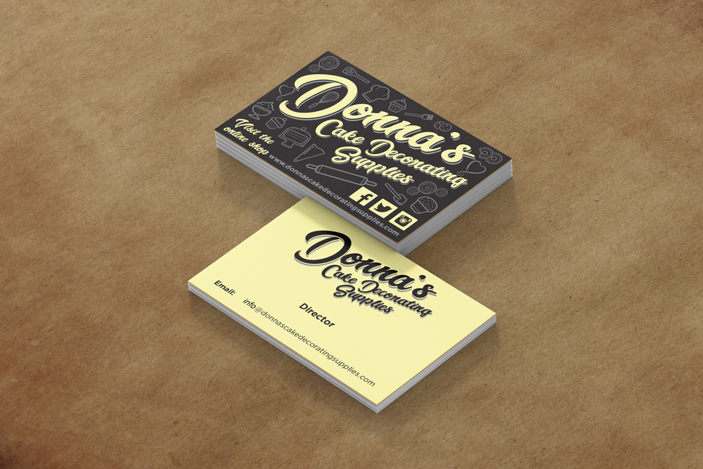 Donnas Cake Decorating Supplies Business Cards