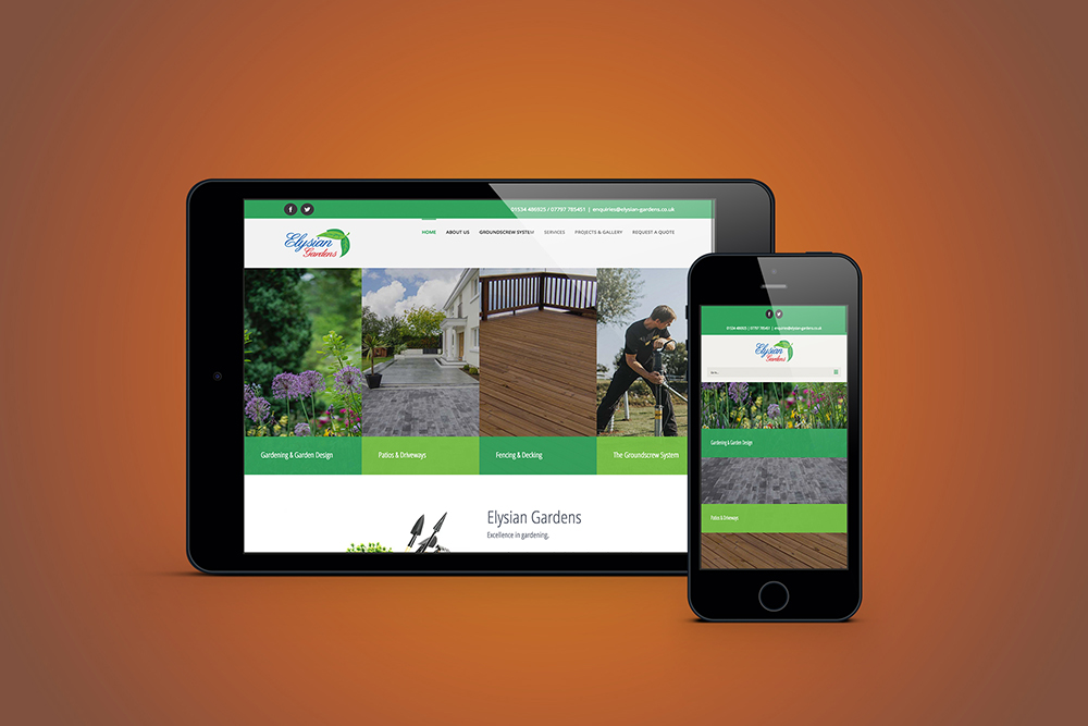 Elysian Gardens Website Design by Webby Design