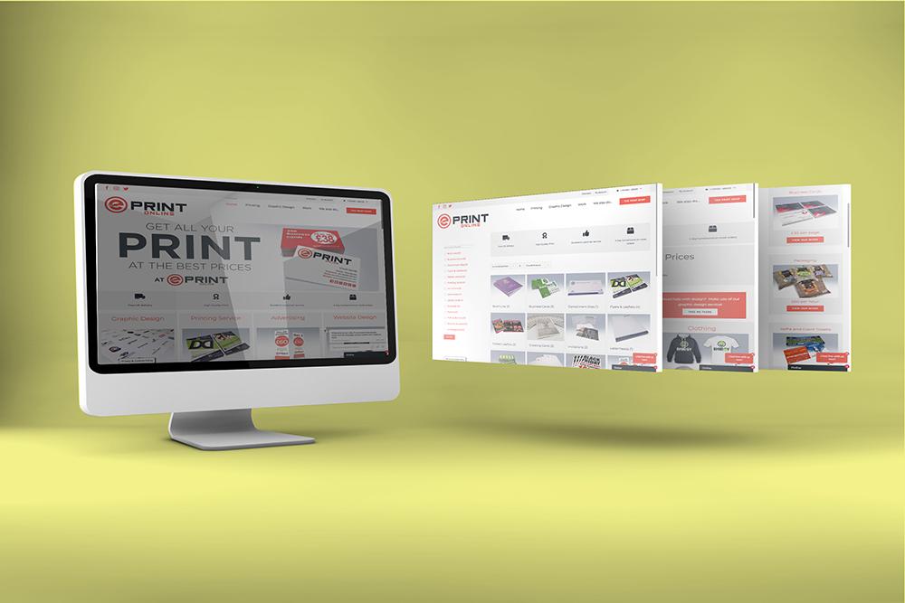 EPRINT Online website design by Webby Design