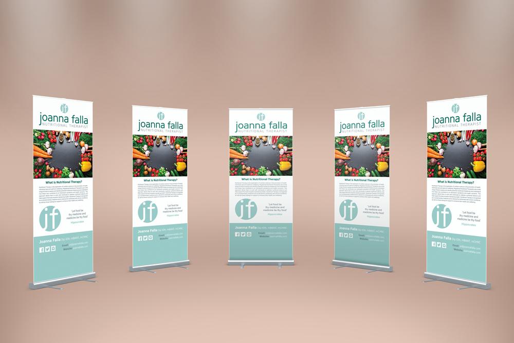 Jonanna Falla Roller Banner design