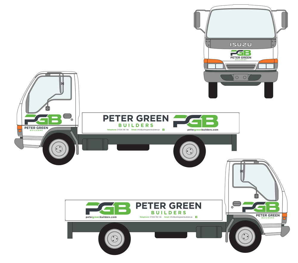 Peter Green Builders Vehicle Livery Design