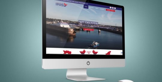 Iris Freight website design by Webby Design
