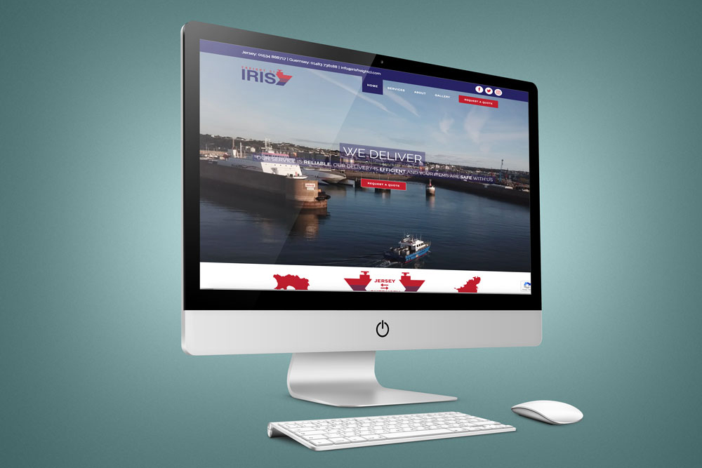 Iris Freight website design by Webby Design