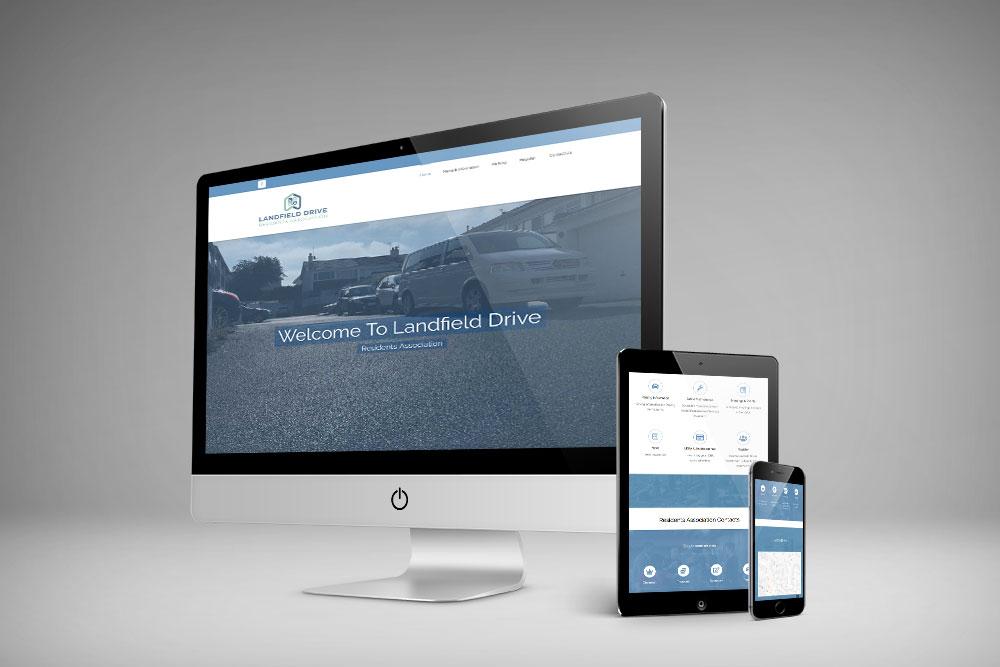 Landfield Drive Residents Association Website design by webby design