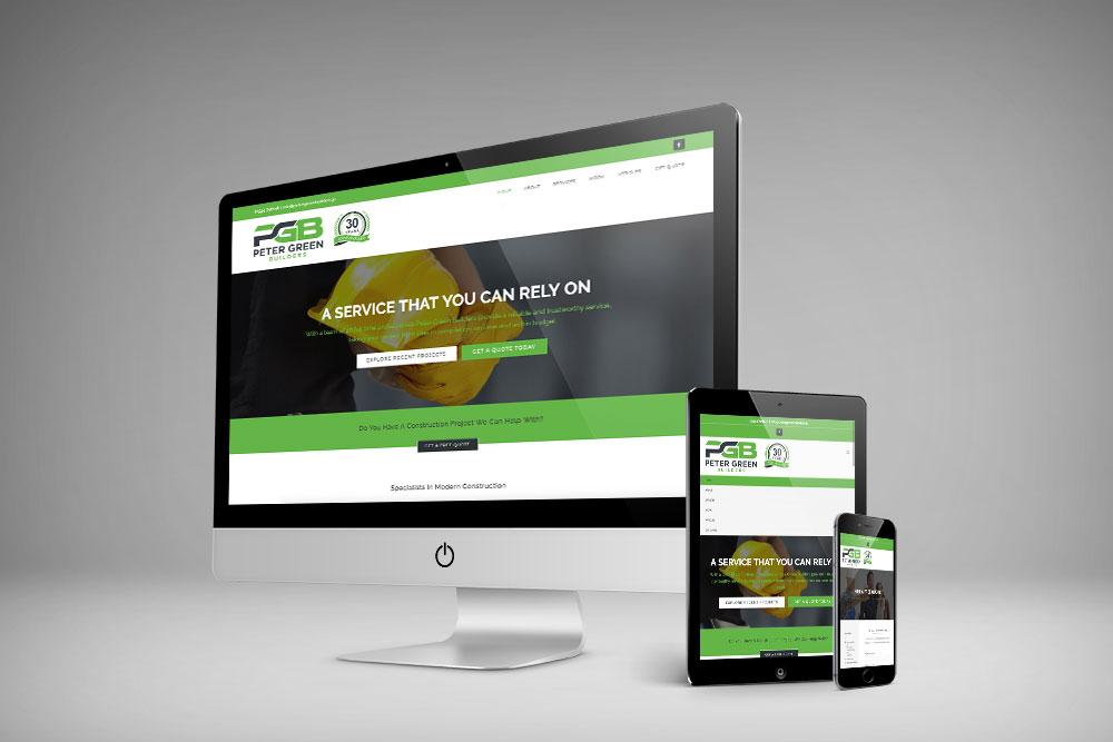 Peter Green Builders website by webby design