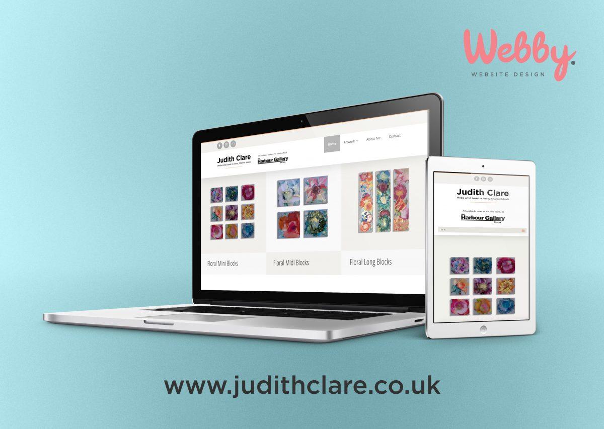 judithclare.co.uk Website Design by Webby Design