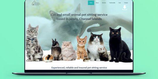 Webby Design Website Design Whiskers Pet Sitting Website