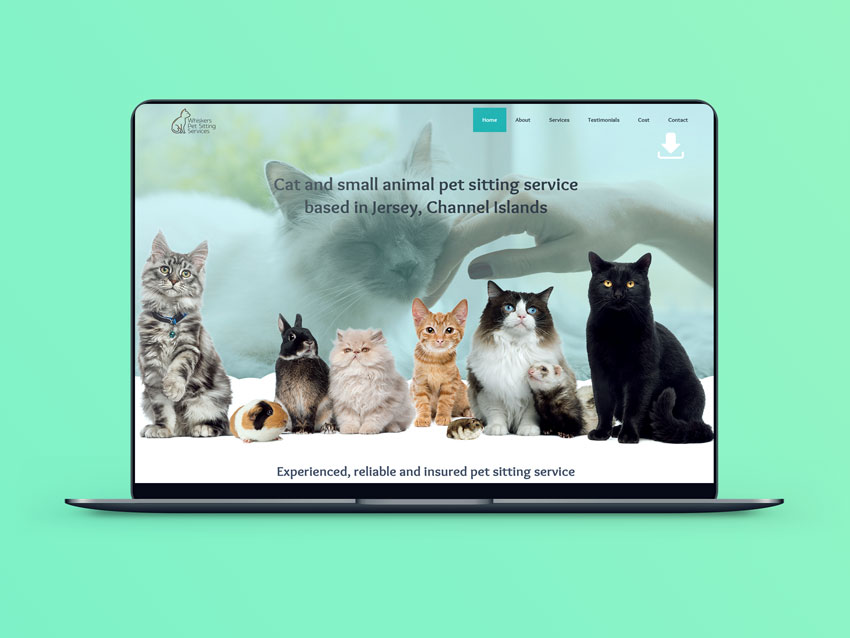 Webby Design Website Design Whiskers Pet Sitting Website