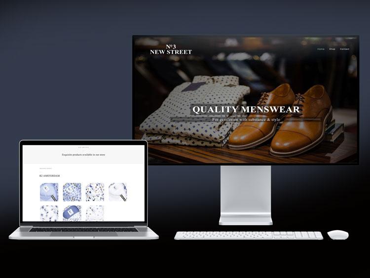 Webby Design website design for No 3 New Street