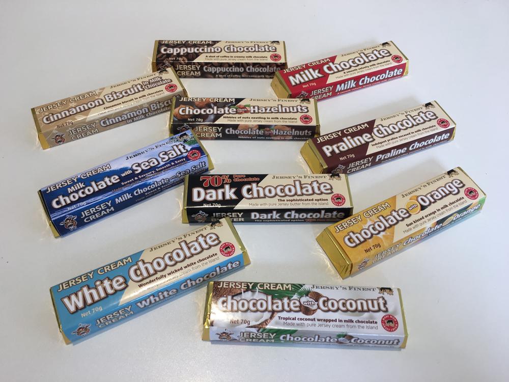 Jerseys Finest Chocolate Bar Packaging Design by Webby Design