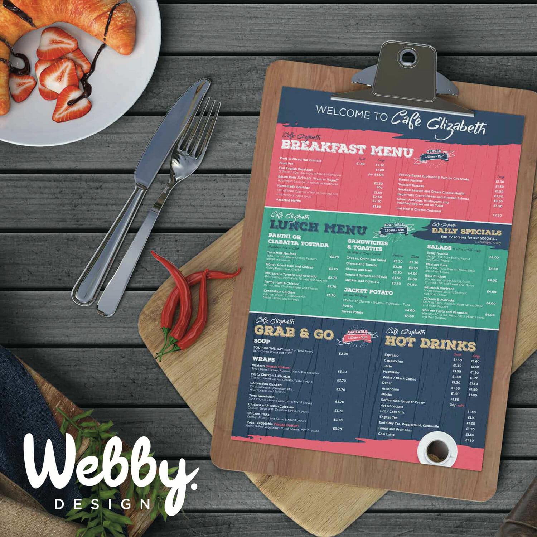 Restaurant or Cafe Menu Design
