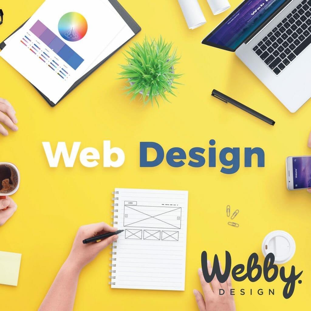 Webby.Design image promoting Website Design Services