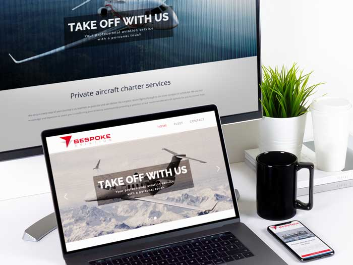 Webby Design Bespoke Aviation Website