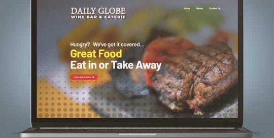 Webby Design Daily Globe Website