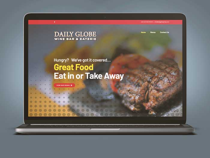 Webby Design Daily Globe Website