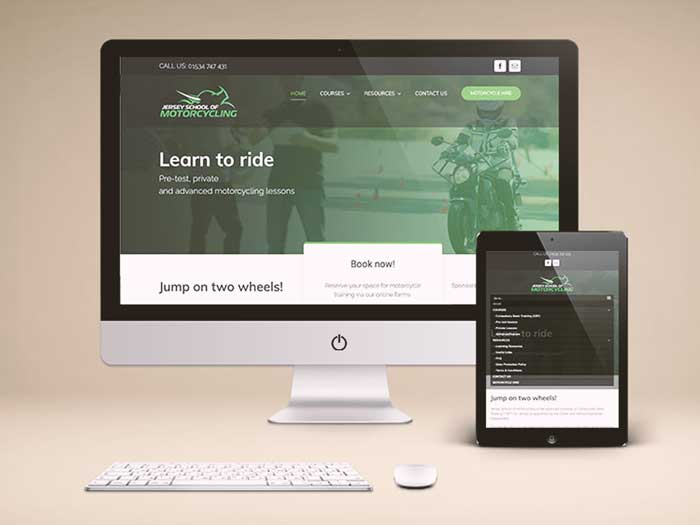 Webby Design Jersey School of Motorcycling Website