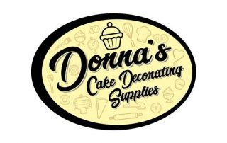 Donnas Cake Decorating Supplies Jersey Logo