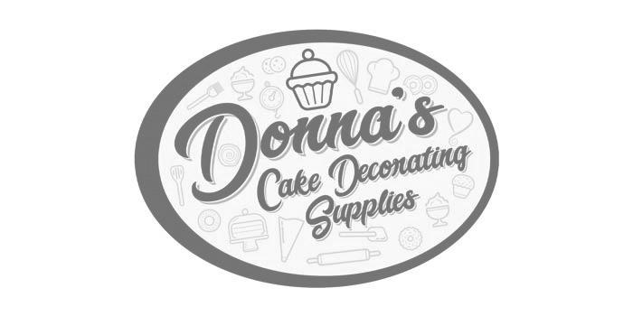 Donnas Cake Decorating Supplies Jersey Logo