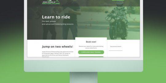 Webby Design Jersey School of Motorcycling Website