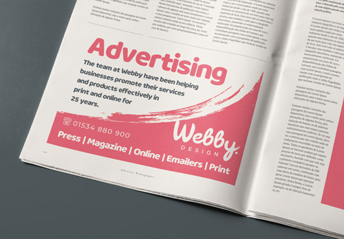 Webby Design Advertising Newspaper Adverts Magazine Adverts