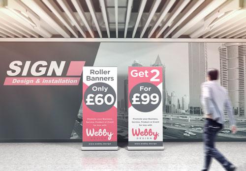 Webby Design Signage Design Service