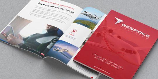Webby Design Brochure Design for Bespoke Aviation