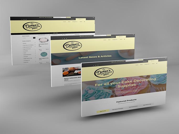 Webby Design Donnas Cake Decoration Supplies Website