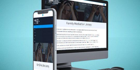 Webby Design Family Mediation Jersey Website