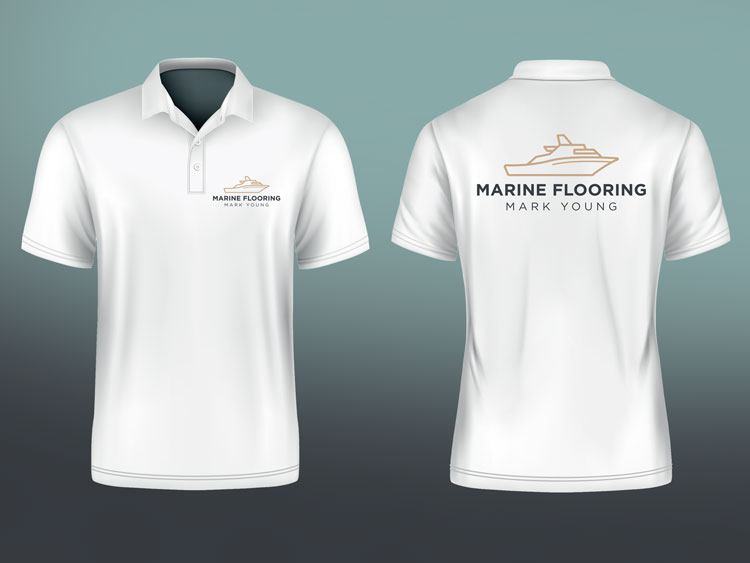 Webby Design Promotional Products Polo Shirts Mark Young Marine Flooring