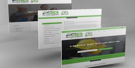 Webby Design Peter Green Builders Website