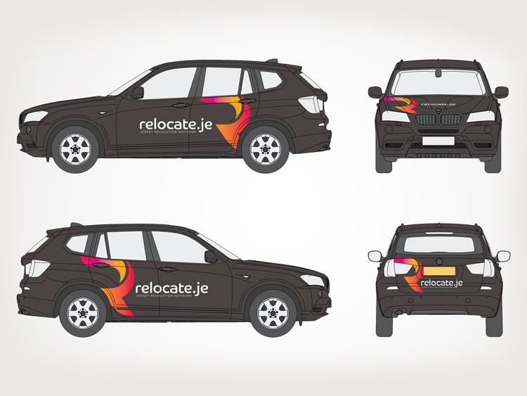 Webby Design Vehicle Livery Design Relocate.je